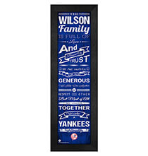 Personalized Family Cheer New York Yankees