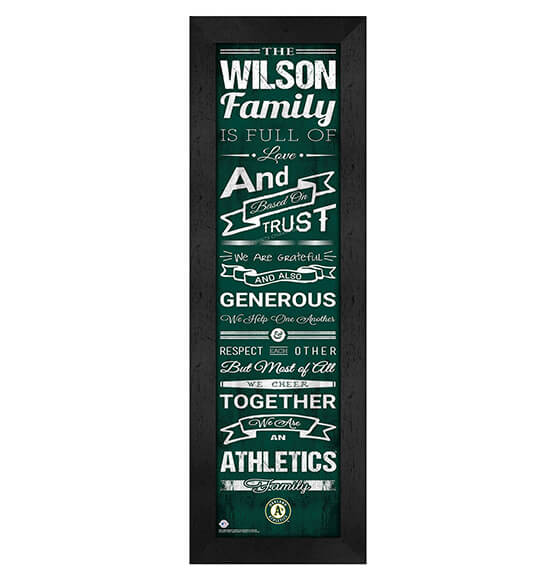 Personalized Family Cheer Oakland Athletics