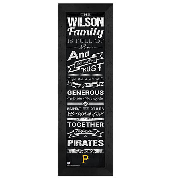 Personalized Family Cheer Pittsburgh Pirates