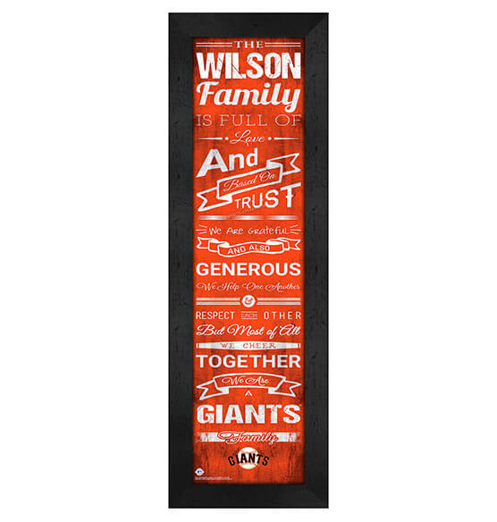 Personalized Family Cheer San Francisco Giants
