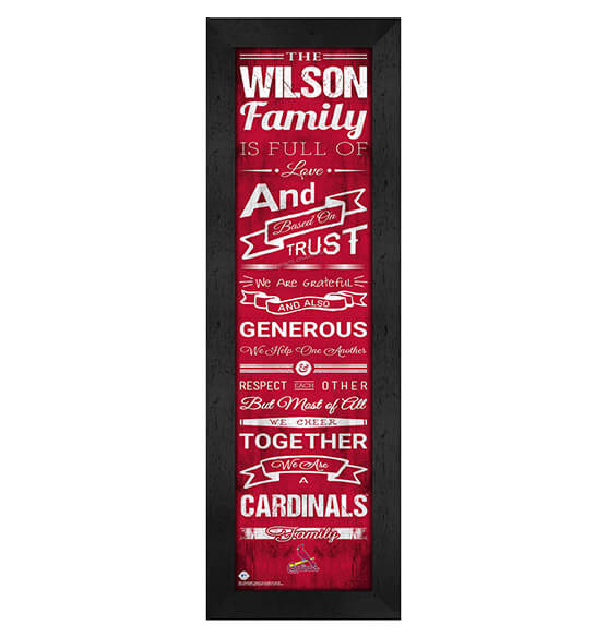 Personalized Family Cheer St. Louis Cardinals
