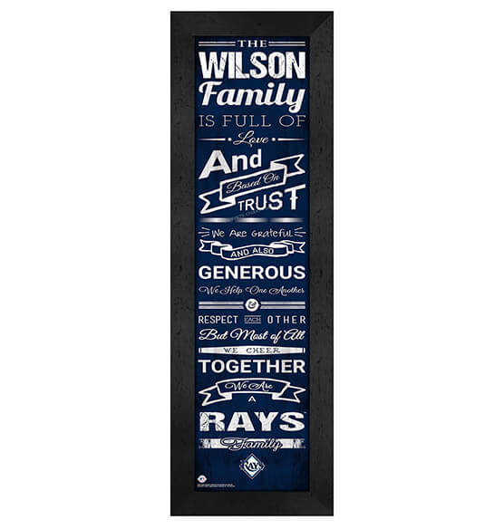 Personalized Family Cheer Tampa Bay Rays