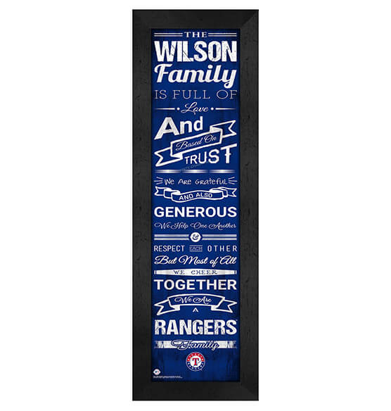 Personalized Family Cheer Texas Rangers