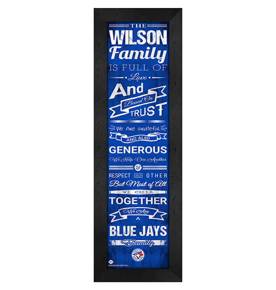 Personalized Family Cheer Toronto Blue Jays