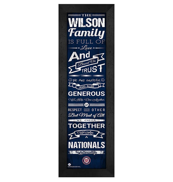 Personalized Family Cheer Washington Nationals