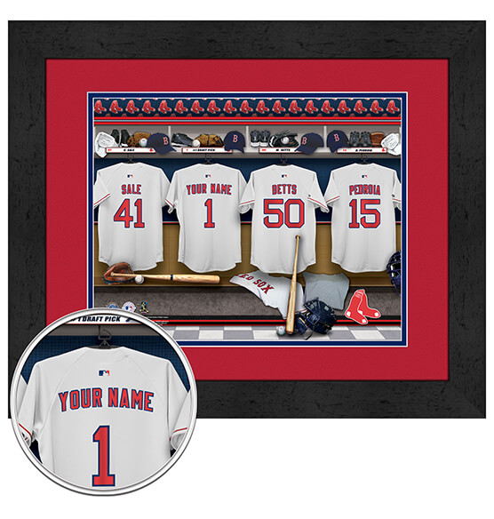 Personalized Locker Room Boston Red Sox