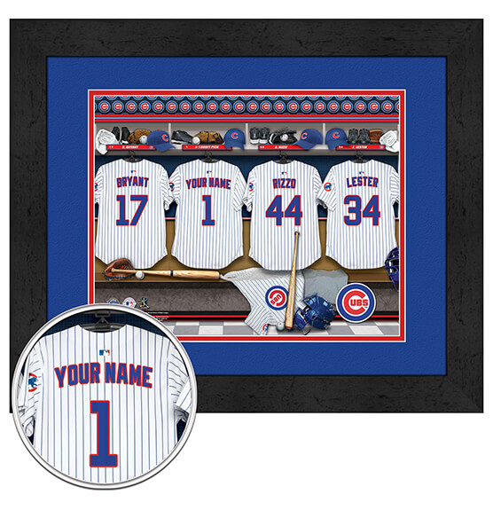 Personalized Locker Room Chicago Cubs