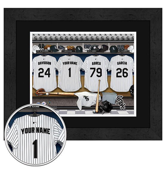 Personalized Locker Room Chicago White Sox