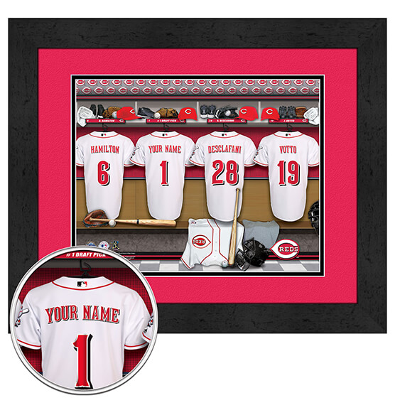 Personalized Locker Room Cincinnati Reds