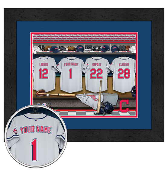 Personalized Locker Room Cleveland Indians