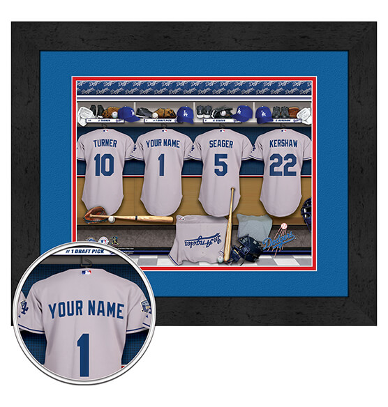 Personalized Locker Room Los Angeles Dodgers