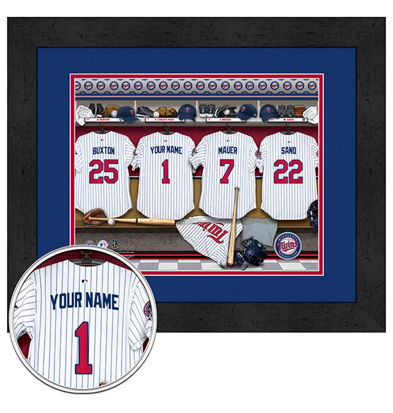 Personalized Locker Room Minnesota Twins
