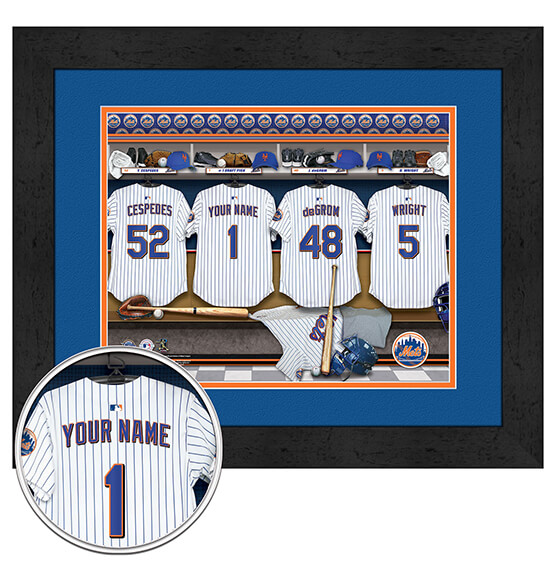 Personalized Locker Room New York Mets