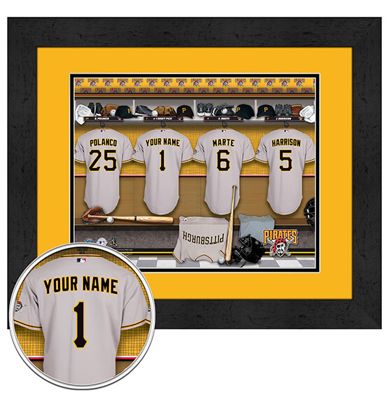 Personalized Locker Room Pittsburgh Pirates