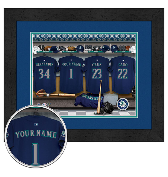 Personalized Locker Room Seattle Mariners