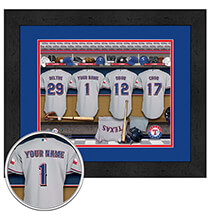 Personalized Locker Room Texas Rangers