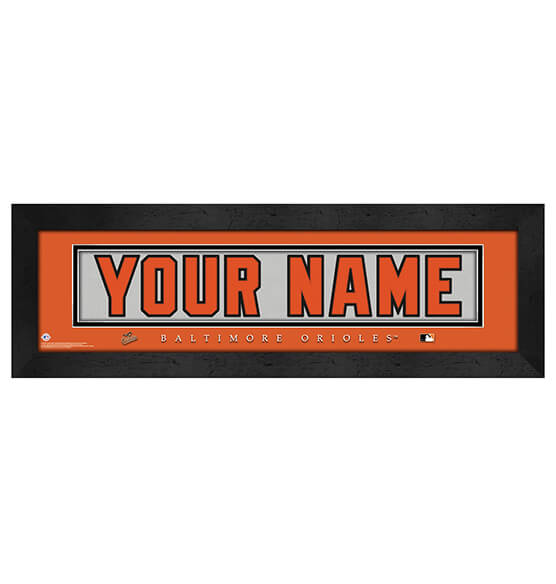 Personalized Nameplate Baltimore Orioles