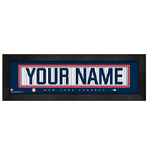 Personalized Nameplate New York Yankees