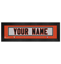 Wall Décor - Personalized Nameplate San Francisco Giants