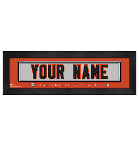 Personalized Nameplate San Francisco Giants