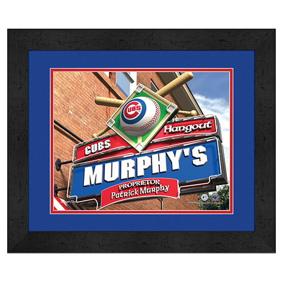 Personalized Pub Sign Chicago Cubs