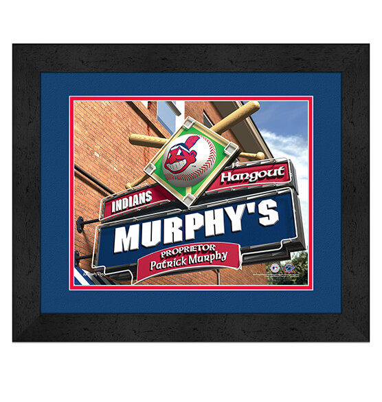 Personalized Pub Sign Cleveland Indians