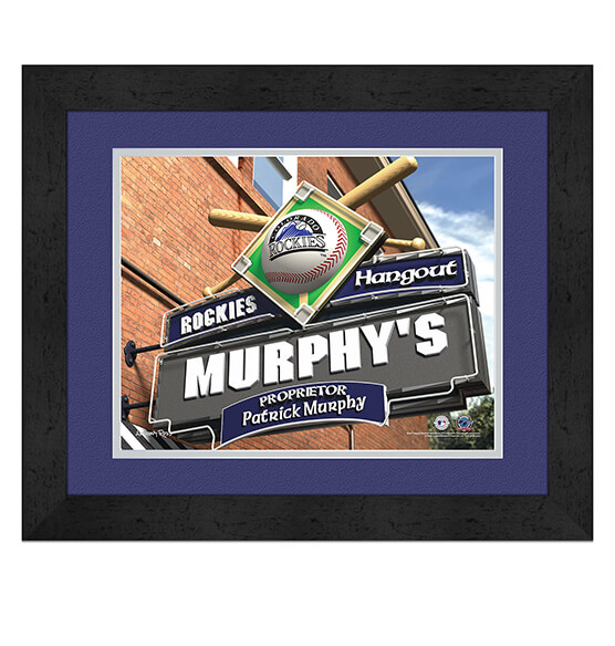 Personalized Pub Sign Colorado Rockies