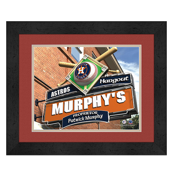 Personalized Pub Sign Houston Astros
