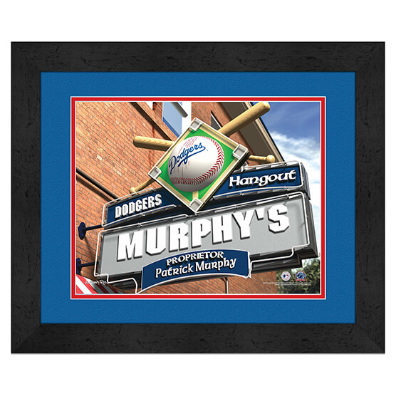Personalized Pub Sign Los Angeles Dodgers