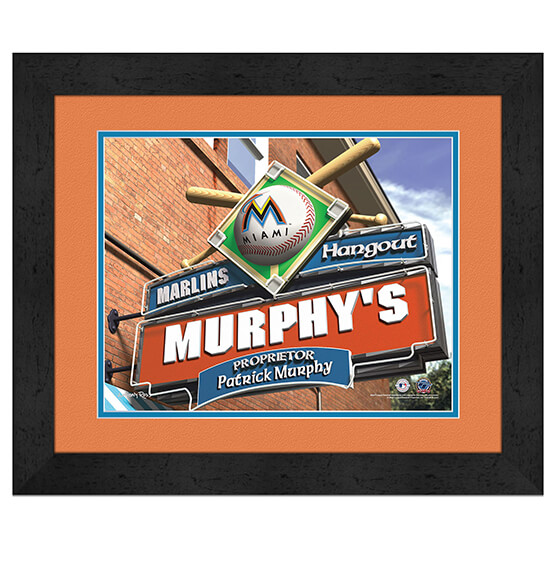 Personalized Pub Sign Miami Marlins