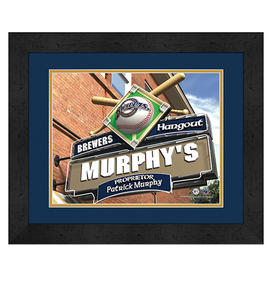 Personalized Pub Sign Milwaukee Brewers