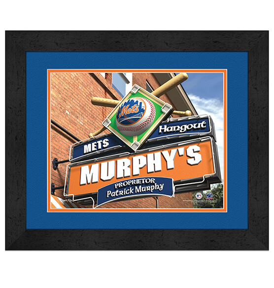Personalized Pub Sign New York Mets