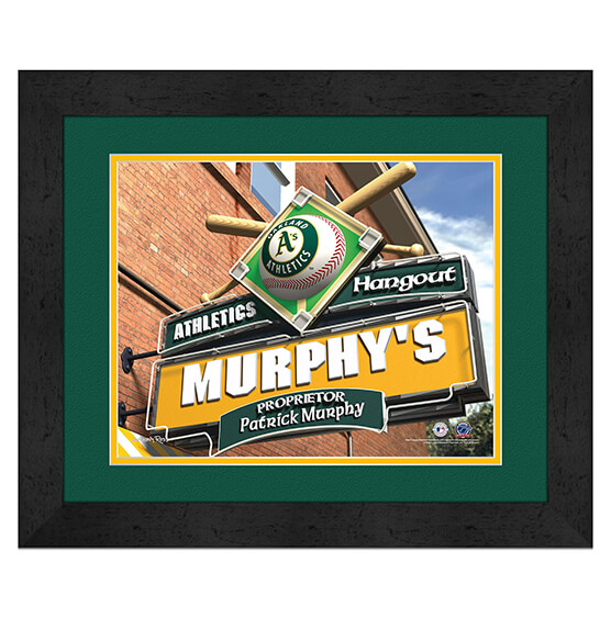 Personalized Pub Sign Oakland Athletics