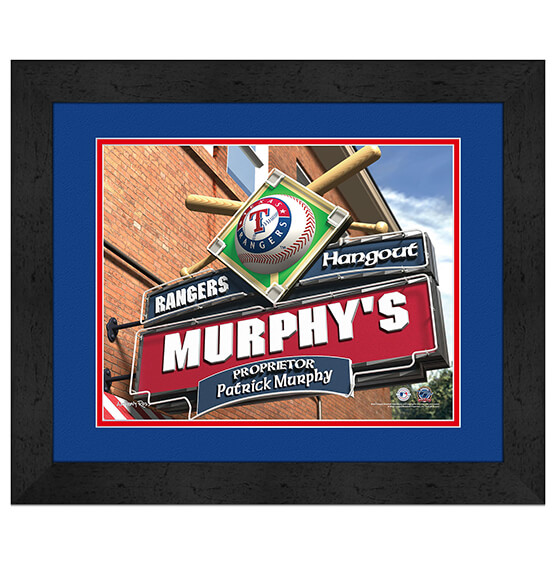 Personalized Pub Sign Texas Rangers