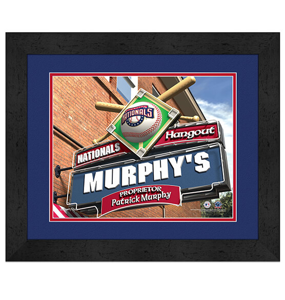 Personalized Pub Sign Washington Nationals