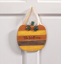New - Personalized Pumpkin Door Hanger