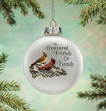 Treasured Friends Glass Ball Ornament by Holiday Peak™
