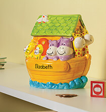 New - Personalized Noah's Ark Bank