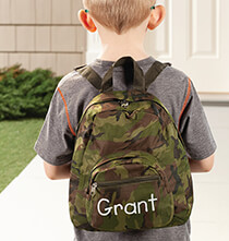 Books & Education - Personalized Mini Camouflage Backpack