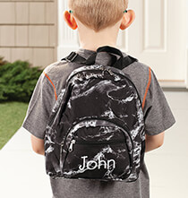 Books & Education - Personalized Mini Black Marble Backpack