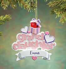 New - Personalized Granddaughter Ornament