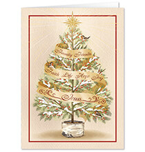 Personalized The Seven Wonders Christmas Card Set of 20