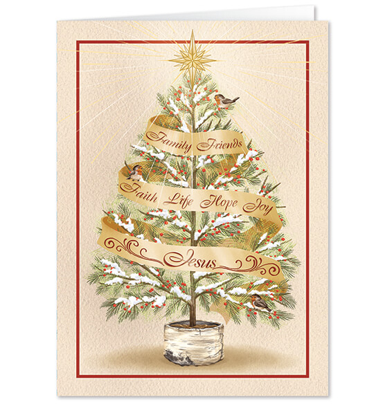 Personalized The Seven Wonders Christmas Card Set of 20 - View 1