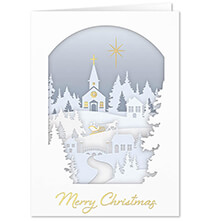 New - Papercut Collage Christmas Card Set of 20