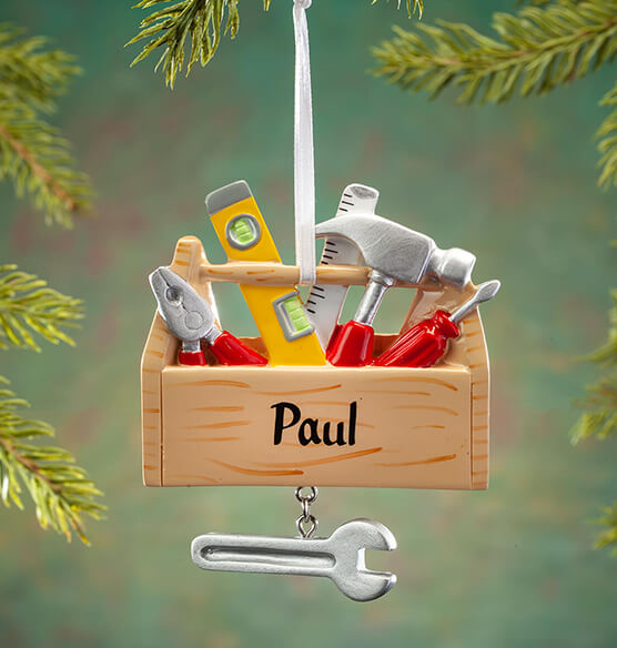 Personalized Toolbox Ornament