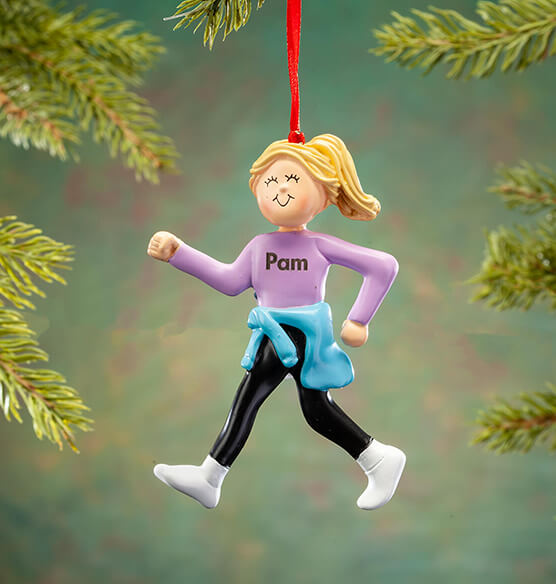 Personalized Walking Ladies Ornament