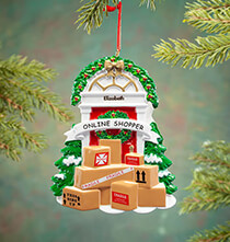 Personalized Online Shopper Ornament   Personalized