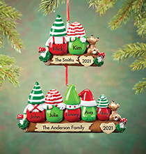 Personalized Gnome Family Ornament