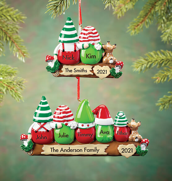 Personalized Gnome Family Ornament - View 1