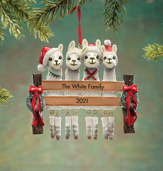 Personalized Llama Family Ornament